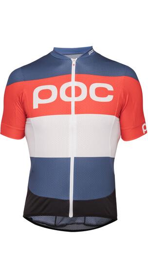 POC Essential Road Logo Kortärmad cykeltröja orange/blå
